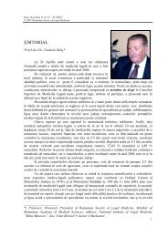 EDITORIAL - Romanian Journal of Legal Medicine