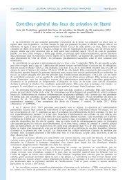 Avis public du 26 septembre 2012 du Contrôleur général des lieux ...