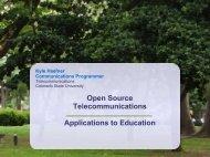 Open Source Telecomminications - EDUCAUSE.edu