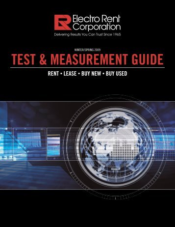 Electro Rent - Test & Measurement Guide - Electro Rent Corporation