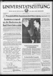 an der Universität - Universität Leipzig