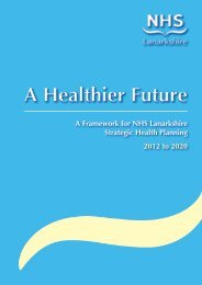 A Healthier Future 2012 to 2020 - NHS Lanarkshire
