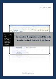 Le modalità di acquisizione del CIG nelle precisazioni dell'Autorità ...