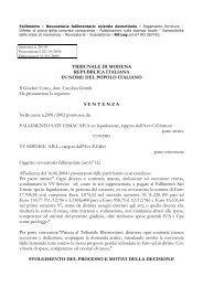 Testo completo della sentenza n. 28 del 11/01/2005 - fondazione ...