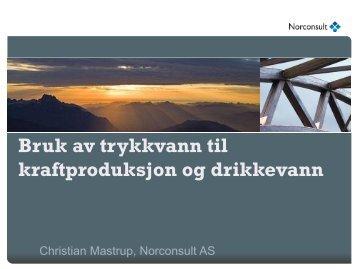 Bruk av trykkvann til kraftproduksjon og drikkevann - Energi Norge
