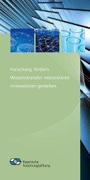 Bayerische Forschungsstiftung - Haus der Forschung - Bayern