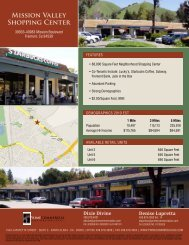 MiSSiON VAllEy ShOPPiNG CENtER - Prime Commercial, Inc