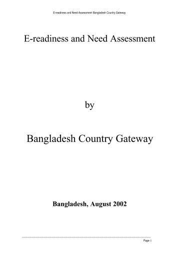 Bangladesh Country Gateway - Sustainable Development ...