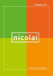Frühjahr 2011 - Nicolai Verlag