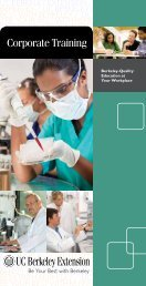 View the brochure - UC Berkeley Extension - University of California ...