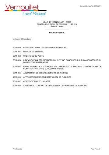 PV du conseil municipal du 27 juin 2011 (pdf - 5 Mo) - Mairie de ...