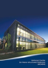 National Centre for Nano-structured Materials - CSIR