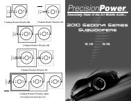 Owner's Manual - Precision Power