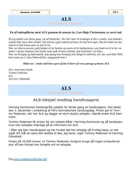 januar 2010 - ALS Gruppen Vestjylland