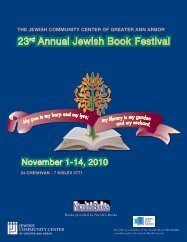 23rd Annual Jewish Book Festival 23rd Annual Jewish Book Festival