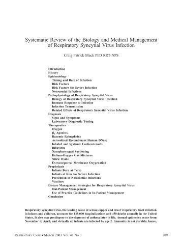 Systematic Review of the Biology and Medical Management of ...