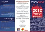 Teachsport Active Academies - Fusion 1 - Forest Hill School