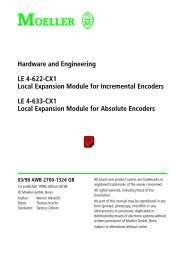 Hardware and Engineering LE 4-622-CX1 Local ... - Moeller