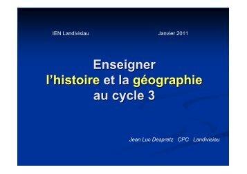 Enseigner l'histoire et la géographie au cycle 3 - classeelementaire