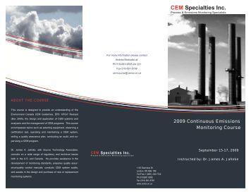 Course draft - CEM Specialties Inc.