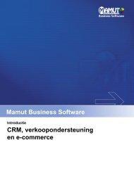 CRM, verkoopondersteuning en e-commerce - Mamut
