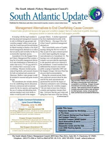 Spring 2008 South Atlantic Update Newsletter - SAFMC.net