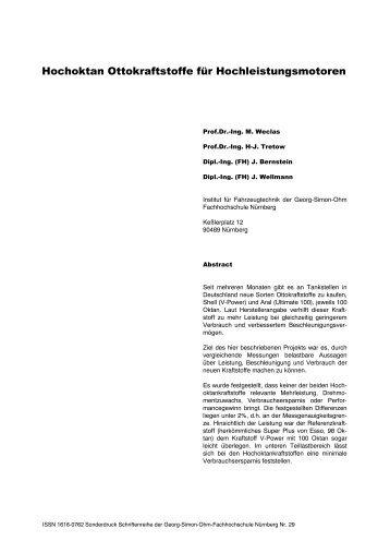 Hochoktan Ottokraftstoffe für Hochleistungsmotoren