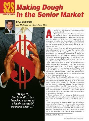 Making Dough In the Senior Market - ECA Marketing
