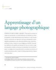 Apprentissage d'un langage photographique - Pearson