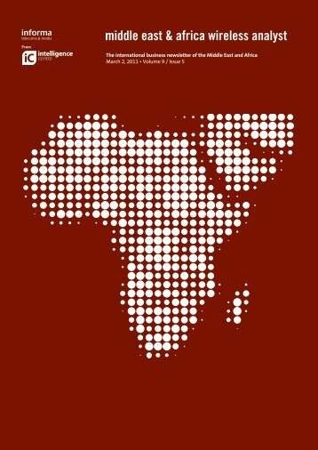 Middle East and Africa Wireless analyst Sample - Informa Telecoms ...