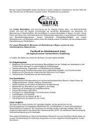 Fachkraft im Arbeitsbereich (m/w) Mayen - Caritas Werkstätten