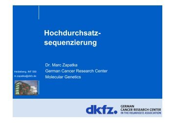 Hochdurchsatz - iBioS - German Cancer Research Center