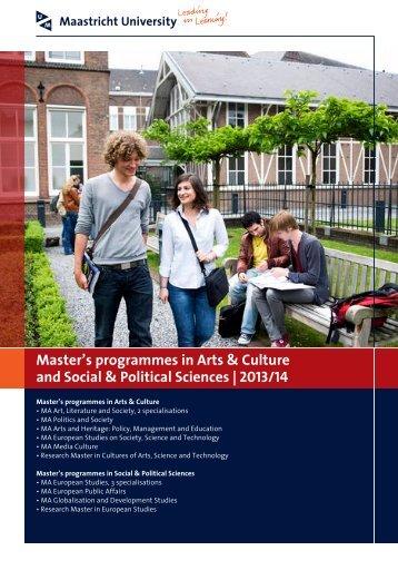Maastricht MA Brochure - Educational Advising Center