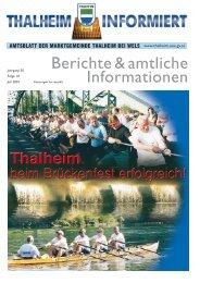 Berichte & amtliche Informationen - Thalheim bei Wels
