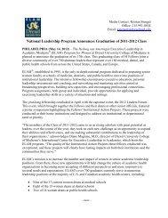 National Leadership Program Announces Graduation of 2011-2012