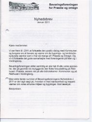 2011-1 - Bevaringsforeningen for Præstø og omegn