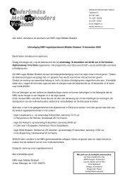 Aan leden, donateurs en sponsors van NMV-regio Midden-Brabant ...