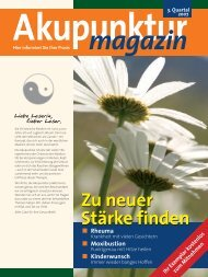 Akupunktur 3. Quartal 2007