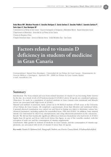 Factors Related - Revista de Osteoporosis y Metabolismo Mineral