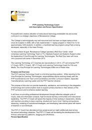 PYP Learning Technology Coach Job Description and Person ...