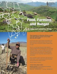 Food, Farming, and Hunger - Canadian Foodgrains Bank