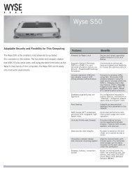 Wyse S50 Datasheet - Wyse Outlet Store