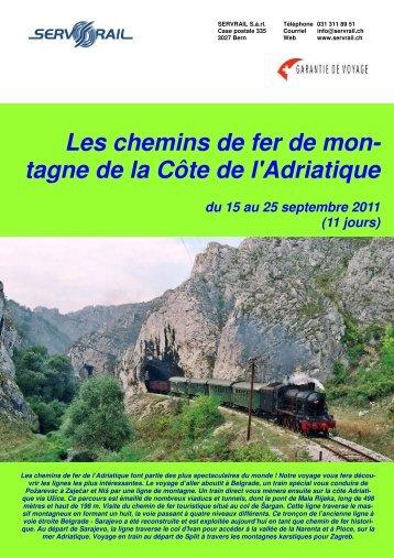Les chemins de fer de mon- tagne de la Côte de l ... - SERVRail