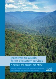Incentives to sustain forest ecosystem services - Illegal Logging Portal