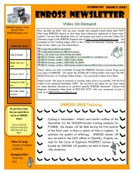 Volume 13 Issue 1 October 2007 draft 2.pub - ENBOSSSupport.com