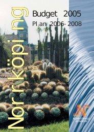 Budget 2005 - Norrköpings kommun