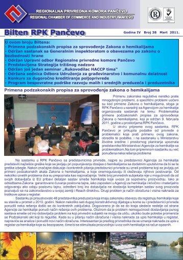 Bilten br.38 - Regionalna Privredna komora Pančevo