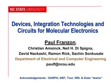 Devices, Integration Technologies and Circuits for Molecular ...