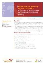 Economie et management de l'entreprise innovante (EMEI)