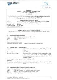 K; č. j.: 1063/2012 - Veřejné zakázky - Cesnet